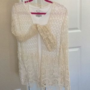 Love J Crocheted Cream Cover Up